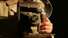 antique camera - stock footage
