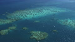 Great Barrier reef from air Stock Footage
