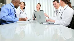 Multi Ethnic Team Medical Consultants Stock Footage