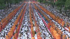 Thailand 22600 Monks 55801 Stock Footage