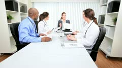 Hospital Medical Team Meeting Stock Footage