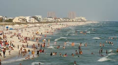 Pensacola Beach Tourists Stock Footage