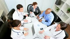 Multi Ethnic Team Medical Consultants Stock Footage