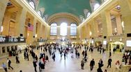 Stock Video Footage of Grand Central Rush Hour New York City Fish Eye