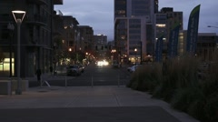 City Street at Night - stock footage