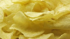 Potato chips close up. Seamless loop. - stock footage
