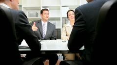 Business Interview in Modern Office Stock Footage
