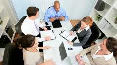 Multi Ethnic Business Team Boardroom Meeting Stock Footage