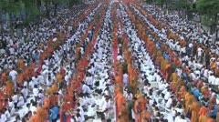 Thailand 22600 Monks 56201 Stock Footage