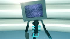VRL tvDANCER tv television technology tech concept Stock Footage
