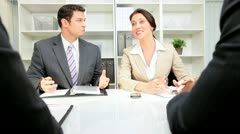 Business People in Legal Meeting Stock Footage