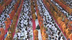 Thailand 22600 Monks 56001 Stock Footage