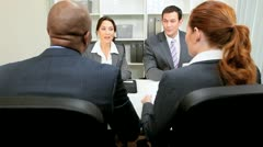 Business Interview in Modern Office - stock footage