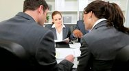 Business Executives Corporate Meeting  Stock Footage