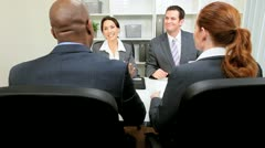 Young Executives Presenting Business Plan - stock footage