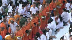 Thailand 22600 Monks 56401 Stock Footage