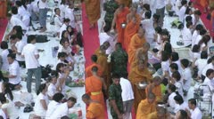 Thailand 22600 Monks 56501 Stock Footage