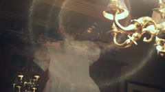 VRL ghost dress floating flying Stock Footage