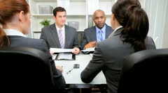 Business People Meeting Banking Executives Stock Footage