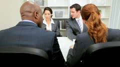 Meeting Budget Committee Young Business Executives - stock footage