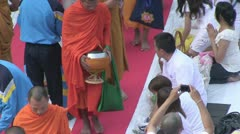 Thailand 22600 Monks 56601 Stock Footage