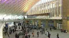 Kings Cross Station concourse London Stock Footage