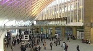 Stock Video Footage of Kings Cross Station concourse London