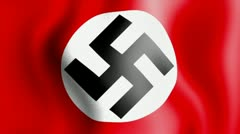 10675 waving swastika nazi flag - stock footage