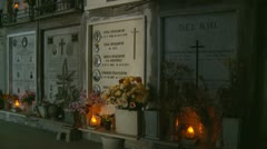 Italian family resting place in cemetery (two) 2 clips Stock Footage