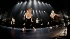 Modern dance - fish eye-low angle Stock Footage