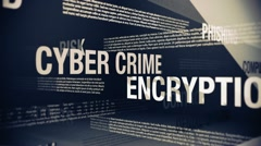 Stock Video Footage of Internet Security Related Terms