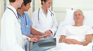 Patient talking to the doctors Stock Footage