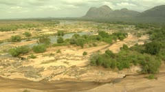 River before flood Stock Footage