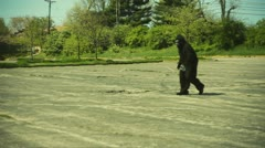 Planet of the APE heatwave parking lot Stock Footage