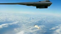 B-2 with Bunker Buster - stock footage