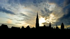 Germany Ulm Minster late afternoon Stock Footage