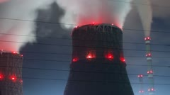 Power Plant at night 1 2 Stock Footage