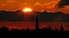 Germany Ulm Minste sunset Stock Footage