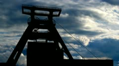 Germany Zollverein coal mine clouds Stock Footage