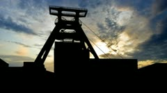 Germany Zollverein coal mine late afternoon Stock Footage