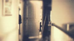 Hallway security ape business wtf Stock Footage