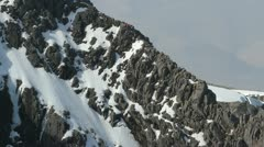 Climber on north face of Ben Nevis Scotland Stock Footage