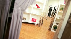 Interior Fashion Clothing Outlet - stock footage