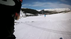 Skier view 50FPS Stock Footage