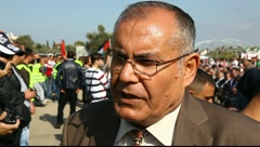 Speaker from Deir Hanna during Land Day Stock Footage