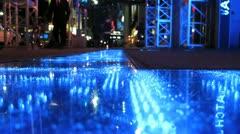 Sidewalk Information Digital Display Scroller in New York City Stock Video Stock Footage