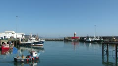 Dunmore East Harbour 2 Stock Footage