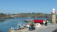 Dunmore East Harbour 3 Stock Footage