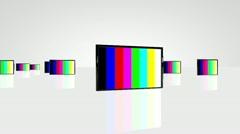 Plasma TV camera travelling 01 Stock Footage
