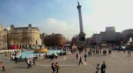 Trafalgar Square Timelapse HD Stock Footage